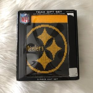 Youth Steelers 3 piece knit set